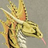 Gold wyvern design