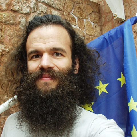 Me with an European Union flag
