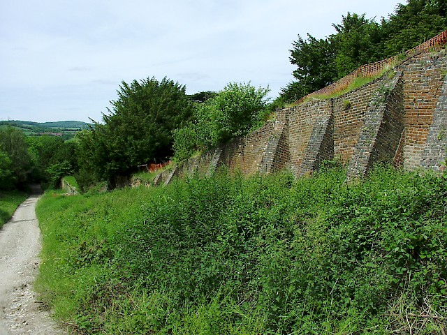 Old retaining wall